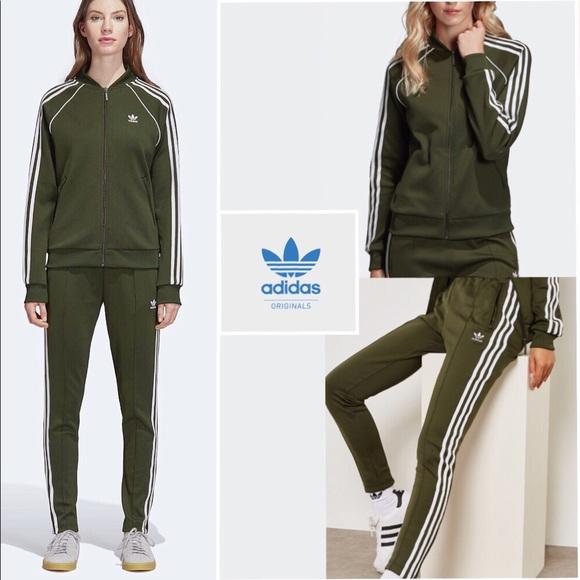 3d0bd22b1a7 Adidas Originals SST Track Jacket   Pants green